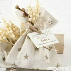 Bolsa algodón estrellas