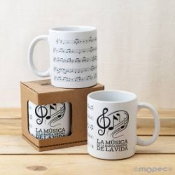 TAZA PARTITURA MUSICAL